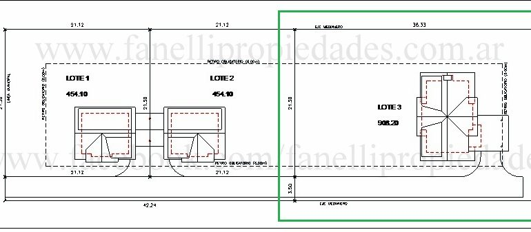 Lote 900 m2